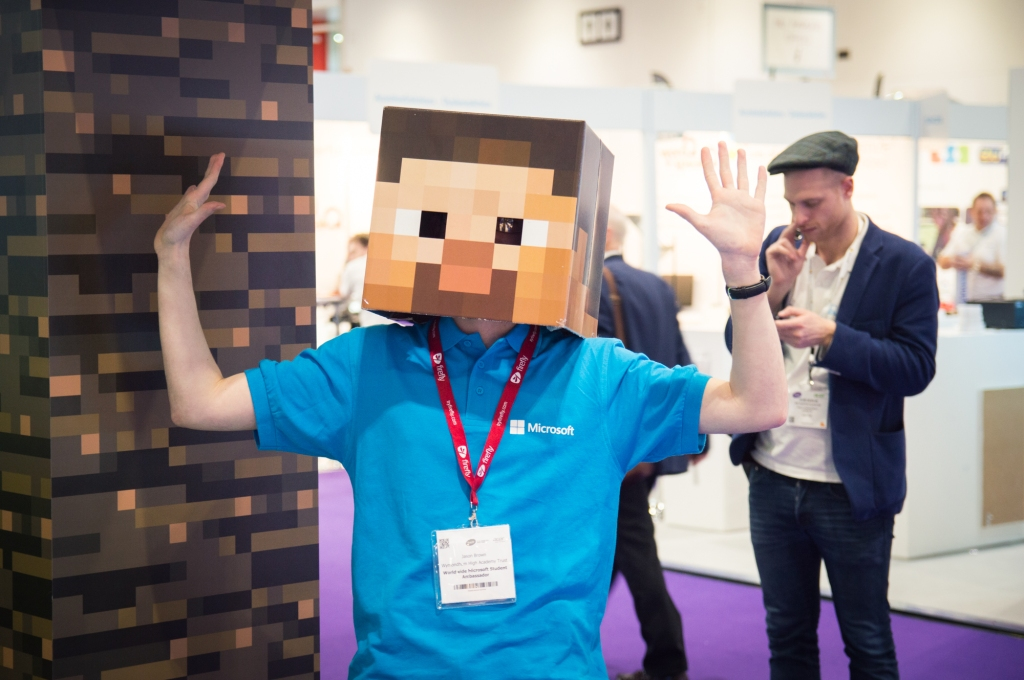 Here I am with the 'Steve head' at the BETT Show.